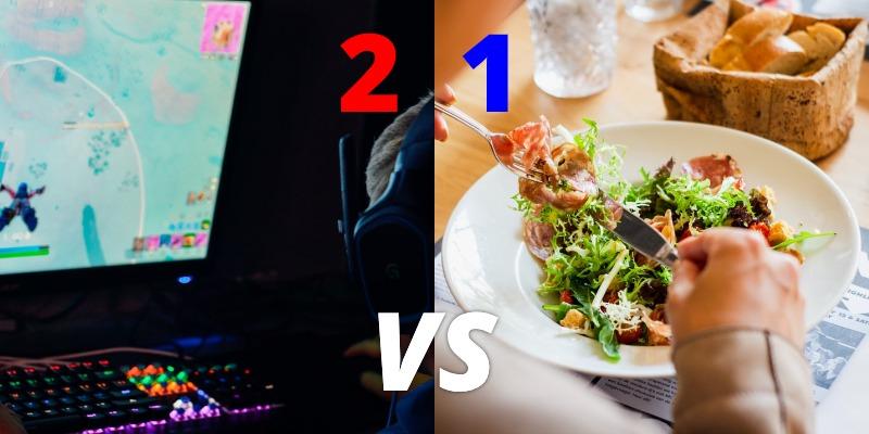 diet vs gamer