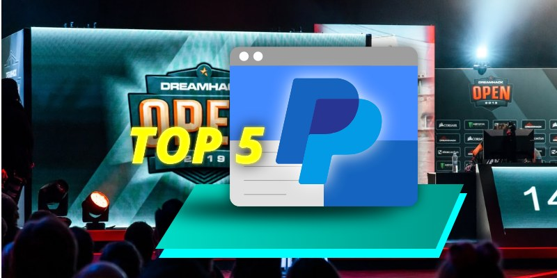 top 5 sites that accepts paypal